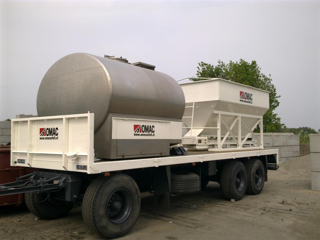 Nieuwe waterwagen / zandbunker bedrijfsklaar