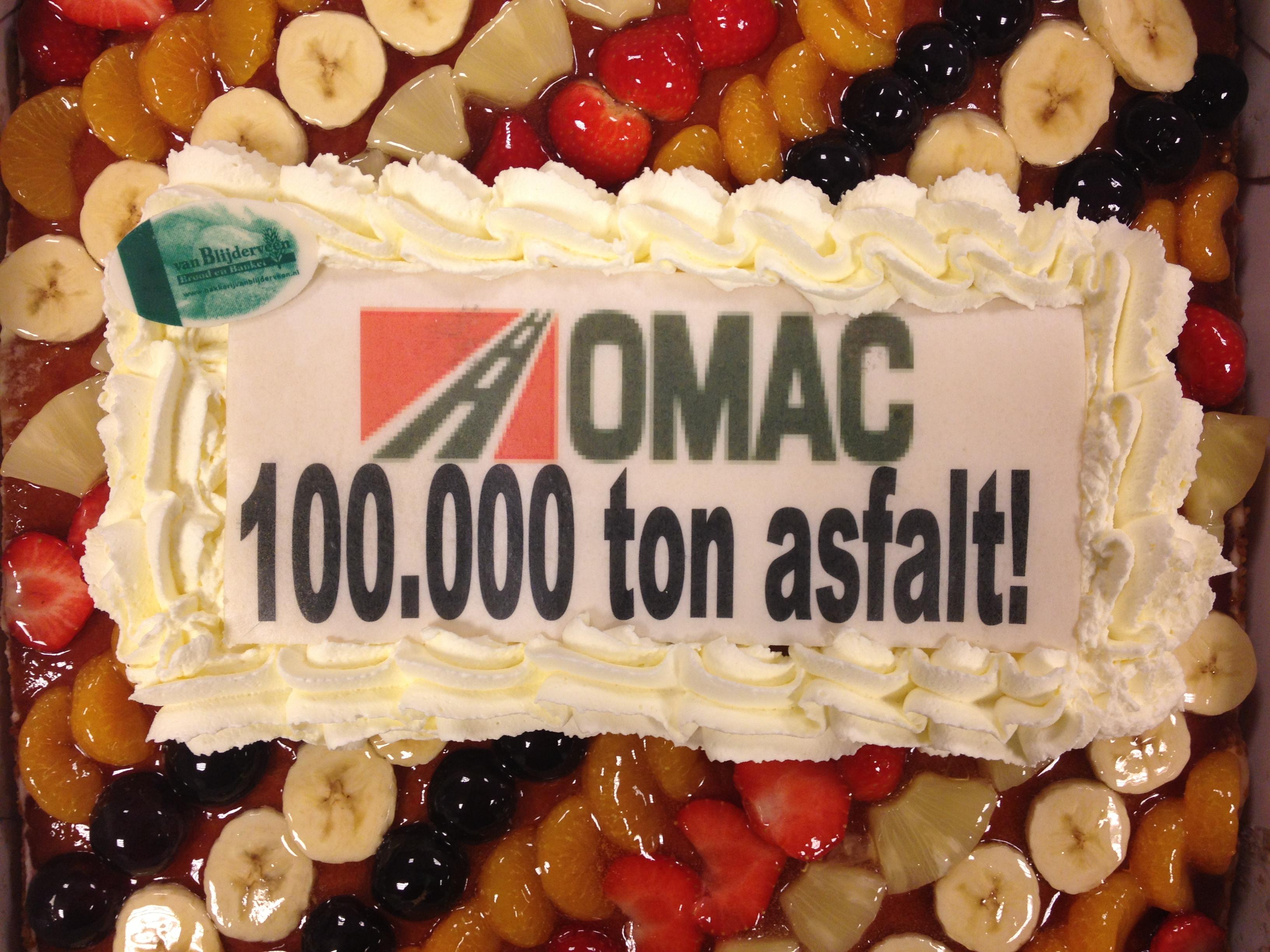 100.000 ton asfalt gedraaid
